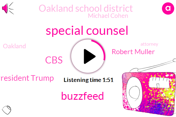 Special Counsel,Buzzfeed,CBS,President Trump,Robert Muller,Oakland School District,Michael Cohen,Oakland,Kcbs,Matt Bigler,Attorney,Matt Piper,Moscow,Larry Sharoni,Paula Reid,Santa Clara