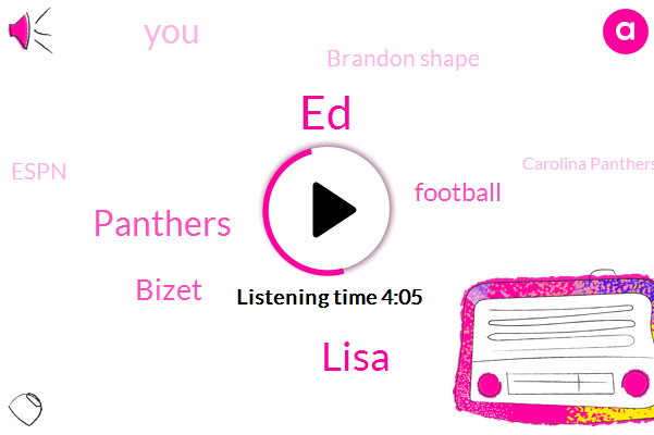 ED,Lisa,Panthers,Bizet,Football,Brandon Shape,Espn,Carolina Panthers,Christian Mccaffrey,United States,Alzheimer,Parkinson,Three Years