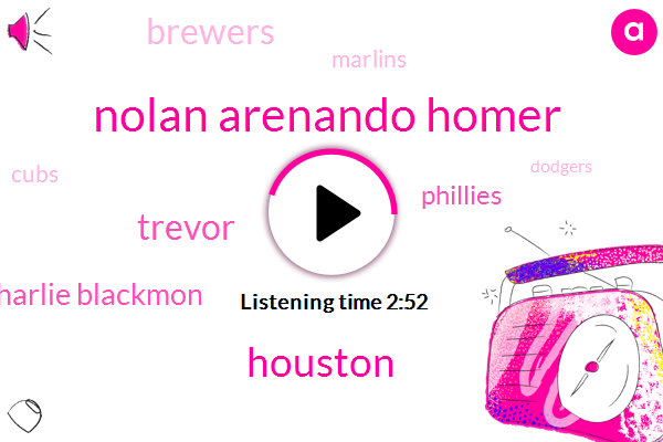 Nolan Arenando Homer,Houston,Trevor,Charlie Blackmon,Phillies,Brewers,Marlins,Cubs,Dodgers,Orioles,Tigers,Minnesota,Kansas,Texas,Astros,Desmond,Domingo,Colorado,Jason Vargas,Mets