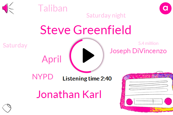 Steve Greenfield,Jonathan Karl,April,Nypd,Joseph Divincenzo,Taliban,Saturday Night,Saturday,5.4 Million,May, 19Th,Neil Baker,West Orange,780 Hospitalizations,Nine Am,New Jersey,1263 Additional Infections,Third Dose,Five Pm,Delta Fareed,Two Detectives