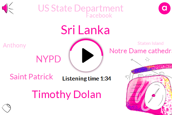 Sri Lanka,Timothy Dolan,Nypd,Saint Patrick,Notre Dame Cathedral,Us State Department,Facebook,Anthony,Staten Island,Seco,Archbishop Of Paris,France,Eight Hundred Fifty Year,Eighty Nine Year