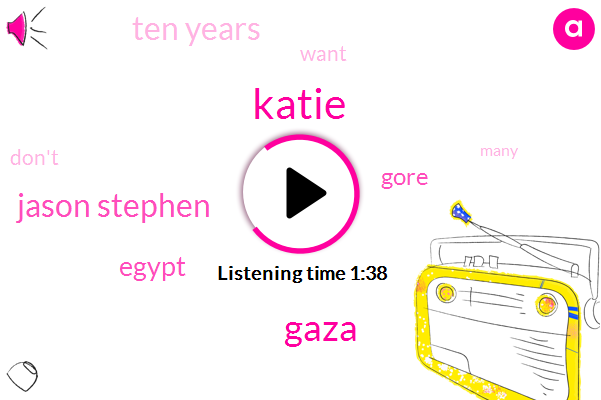 Katie,Gaza,Jason Stephen,Egypt,Gore,Ten Years