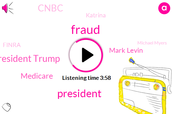 Fraud,President Trump,Medicare,Mark Levin,Cnbc,Katrina,Finra,Michael Myers,Hayes,Eight Years,Eighty Five Percent,Fifteen Percent,Hundred Percent,Seven Percent,Sixty Percent