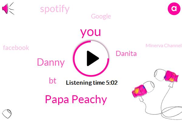 Papa Peachy,Danny,BT,Danita,Spotify,Google,Facebook,Minerva Channel,Murray,Scientist,Researcher