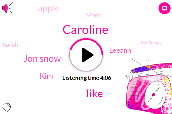 Caroline,Jon Snow,KIM,Leeann,Apple,Mont,Sarah,John Ramos,Representative,Tyrol,I,DOT