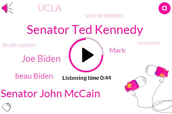 Senator Ted Kennedy,Brain Cancer,Senator John Mccain,Joe Biden,Beau Biden,Vice President,Ucla,Mark,Ten Percent,Three Year