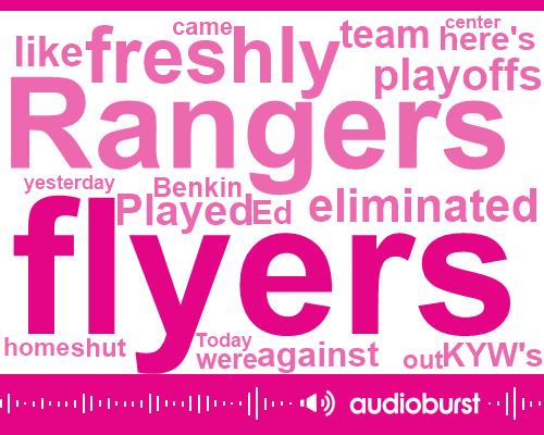 Rangers,Ed Benkin,Davidge,Ryan Strong,New York,Brady,KYW,Alexander
