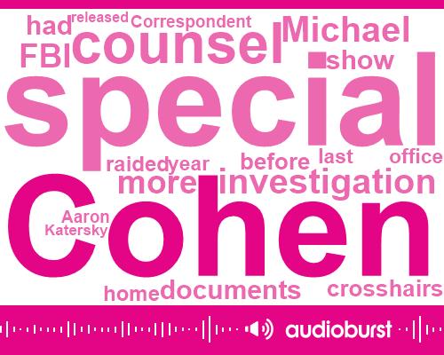 Michael Cohen,Special Counsel,FBI,Donald Trump,Aaron Katersky,Robert Muller,Twenty Seventeen Two Months,Three Year