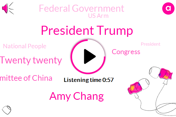 Beijing,President Trump,Twenty Twenty,Foreign Affairs Committee Of China,Congress,Taiwan Straits,Federal Government,Us Arm,Taiwan,China,Amy Chang,National People,Xinjiang,United States,Hong Kong,NPR,Four Trillion Dollar