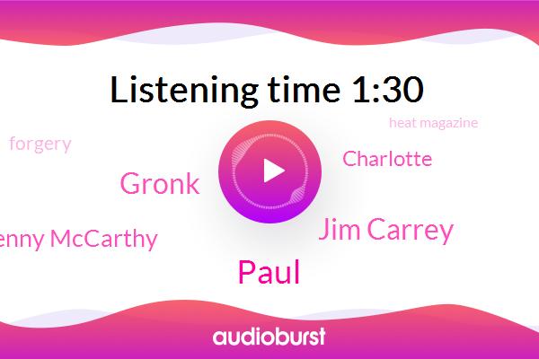 Jim Carrey,Forgery,Heat Magazine,Gronk,Jenny Mccarthy,Paul,Charlotte