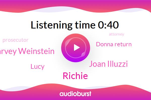 Joan Illuzzi,Harvey Weinstein,Lucy,Assault,Donna Return,Prosecutor,Richie,Attorney