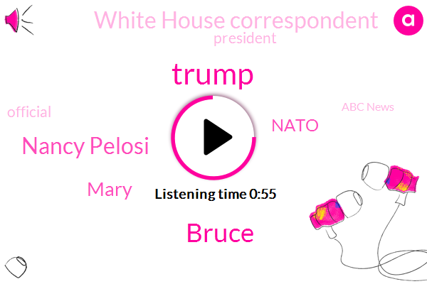 Nancy Pelosi,Donald Trump,White House Correspondent,Mary,Abc News,Nato,Bruce,President Trump,Official
