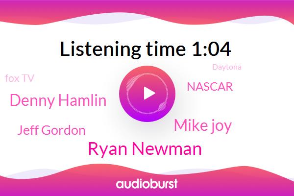 Daytona,Ryan Newman,Nascar,Fox Tv,Mike Joy,Denny Hamlin,Jeff Gordon
