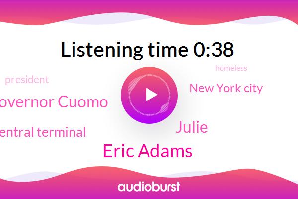 New York City,Grand Central Terminal,President Trump,Eric Adams,Julie,Governor Cuomo