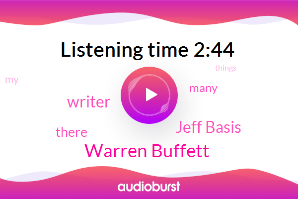 Warren Buffett,Jeff Basis,Writer