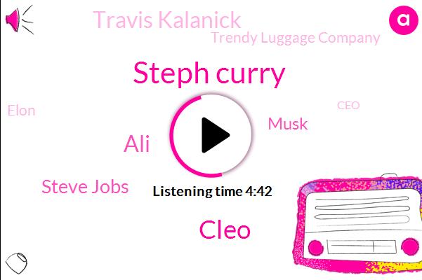 CEO,Trendy Luggage Company,Co Founder,Steph Curry,Cleo,ALI,Steve Jobs,Katrina Lake,Elon,Musk,Travis Kalanick,Eight Percent