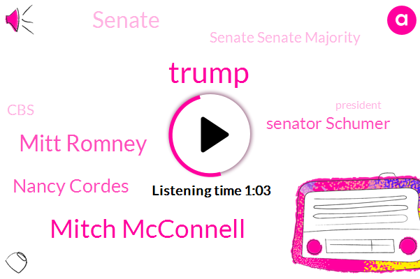 Donald Trump,President Trump,Senate,Mitch Mcconnell,Mitt Romney,Utah,Ukraine,Nancy Cordes,Senator Schumer,Senate Senate Majority,CBS