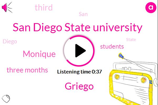 San Diego State University,Griego,Monique,Three Months
