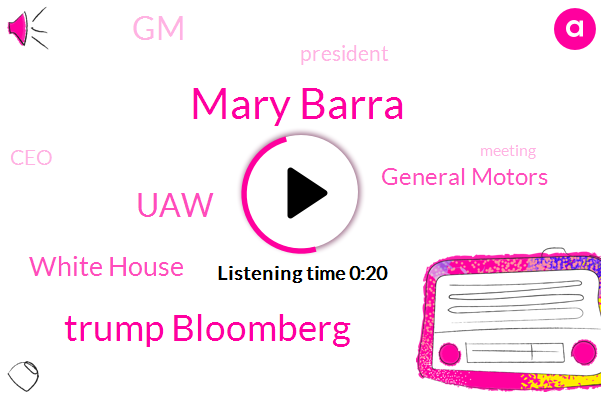 Mary Barra,White House,GM,General Motors,CEO,President Trump,Trump Bloomberg,UAW