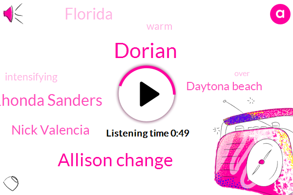 Dorian,Florida,Allison Change,Rhonda Sanders,Nick Valencia,Daytona Beach,Seventy Two Hours