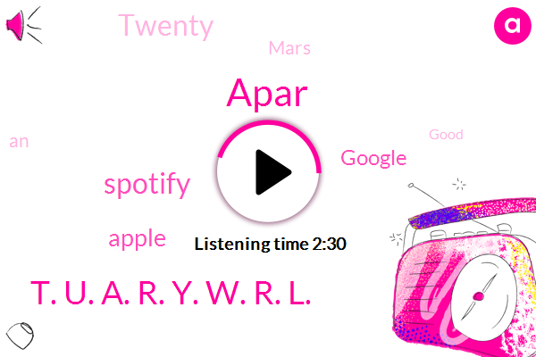 Apar,Spotify,Apple,Google,T. U. A. R. Y. W. R. L.