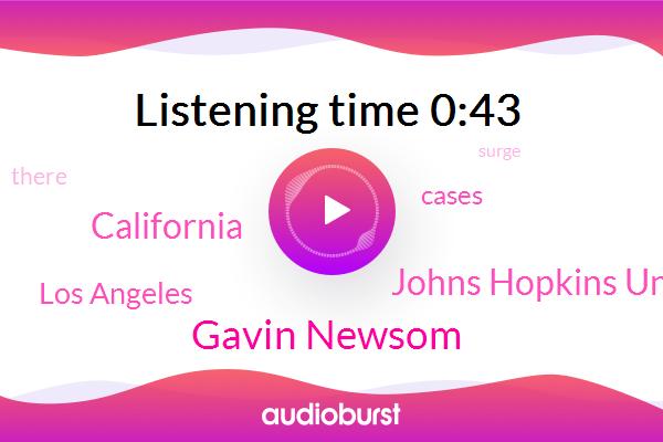 California,Gavin Newsom,Johns Hopkins University,Los Angeles