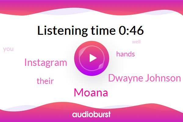 Moana,Dwayne Johnson,Instagram
