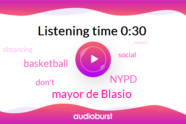 Nypd,Mayor De Blasio,Basketball