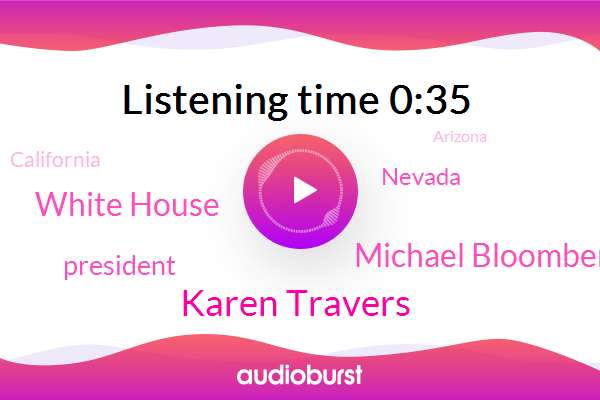 Nevada,President Trump,California,Arizona,Colorado,Las Vegas,ABC,Karen Travers,Michael Bloomberg,White House