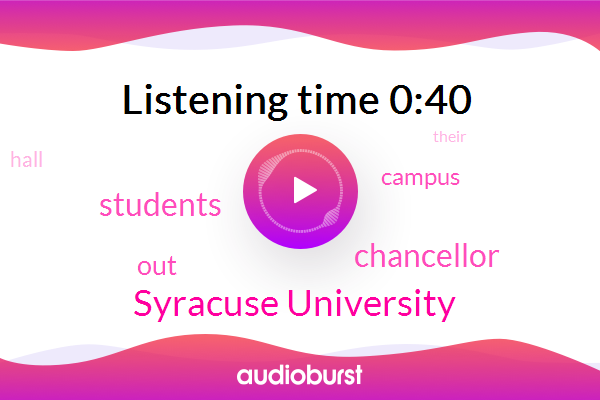 Listen: New York: Syracuse University Students Occupy Building To Protest School's Response To Racist, Anti-Semitic Incidents