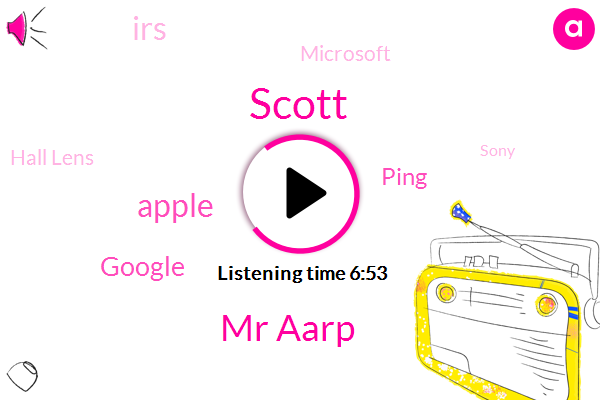 Apple,Scott,Google,Ping,IRS,Microsoft,Mr Aarp,Hall Lens,Sony