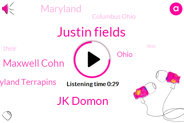 Maryland Terrapins,Justin Fields,Jk Domon,Maryland,Maxwell Cohn,Columbus Ohio,Ohio,Hundred Thirty Nine Yards,Seven Hundred Five Yards,Two Hundred Yards,Ninety Yards