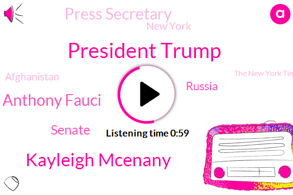 President Trump,Kayleigh Mcenany,Press Secretary,New York,Dr Anthony Fauci,The New York Times,Afghanistan,Senate,Russia,Soccer