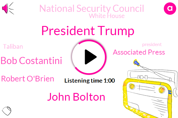 President Trump,Associated Press,National Security Council,White House,Taliban,John Bolton,Bob Costantini,Robert O'brien,Afghanistan,Russia,The New York Times