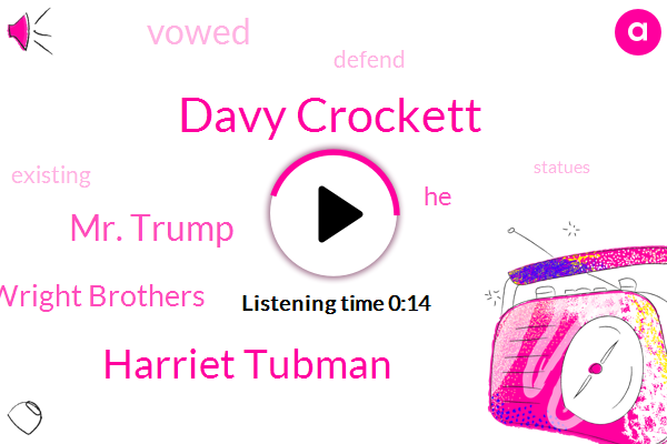 Davy Crockett,Harriet Tubman,Wright Brothers,Mr. Trump