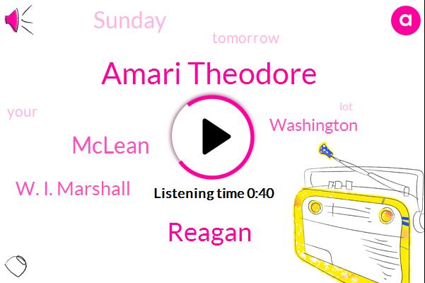 Amari Theodore,Reagan,Mclean,W. I. Marshall,Washington