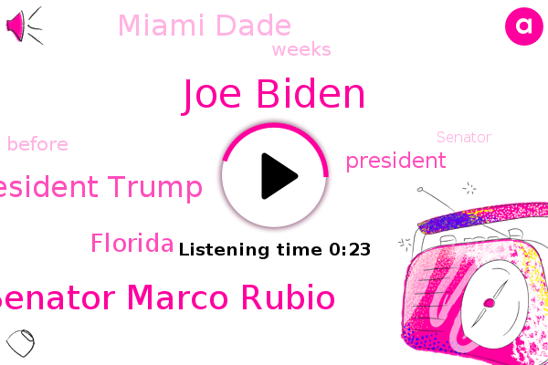 Listen: Election 2020: Rubio says Trump 'over-performing' in Miami-Dade County
