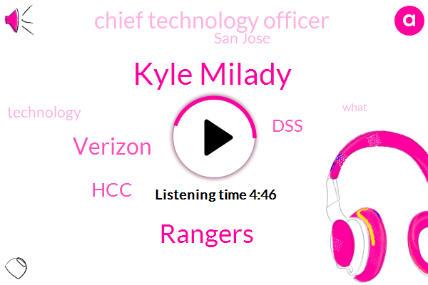 Rangers,Chief Technology Officer,Verizon,Kyle Milady,HCC,San Jose,DSS