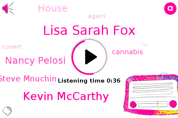 Lisa Sarah Fox,Kevin Mccarthy,Nancy Pelosi,Cannabis,Steve Mnuchin