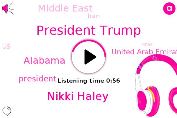 President Trump,Alabama,Hurricane Sally,Nikki Haley,United Arab Emirates,Middle East,Iran,United States,Israel,Georgia