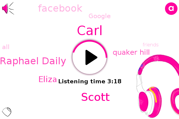 Carl,Quaker Hill,Scott,Facebook,Raphael Daily,Google,Eliza