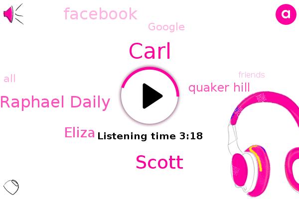 Carl,Quaker Hill,Scott,Facebook,Raphael Daily,Google,Eliza