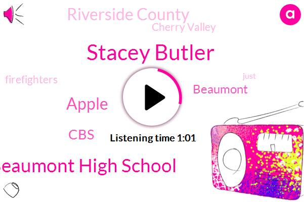 Beaumont High School,Beaumont,Riverside County,Cherry Valley,Stacey Butler,Apple,CBS