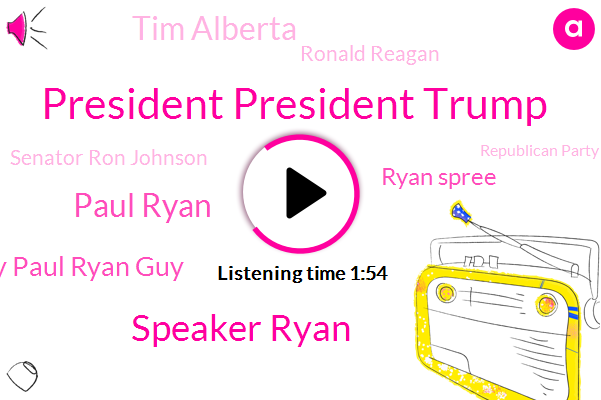President President Trump,Speaker Ryan,Paul Ryan,Guy Paul Ryan Guy,Republican Party,Ryan Spree,Wisconsin,President Trump,Tim Alberta,Ronald Reagan,Senator Ron Johnson,America,Three Percent,Two Years