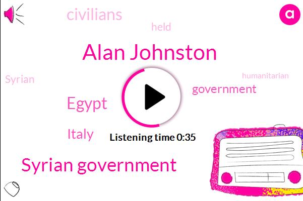 Syrian Government,Egypt,Alan Johnston,Italy