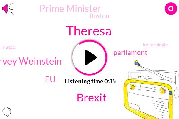 Theresa,Harvey Weinstein,Prime Minister,Rape,EU,Brexit,Parliament,Boston,Thirty Eight Degrees,Five Minutes