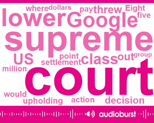 Listen: U.S. top court jeopardizes Google settlement in internet privacy case