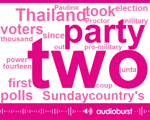 Listen: As Thai Pro-Military Party Celebrates Election Lead, So Do Its Opponents