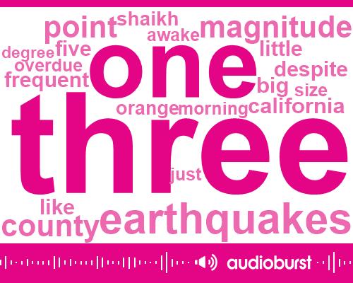 California,Pasadena,Earthquake,San Andreas Santa Sinto,San Diego,Santa Cinta Faultline,Hundred Year