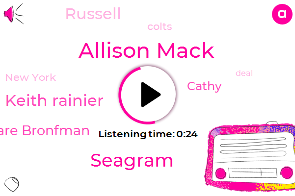 New York,Allison Mack,Seagram,Keith Rainier,Clare Bronfman,Cathy,Colts,Russell